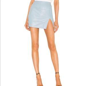 SUPERDOWN Trinity Faux Leather Mini Skirt SMALL